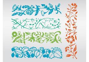 Floral Silhouettes Vectors