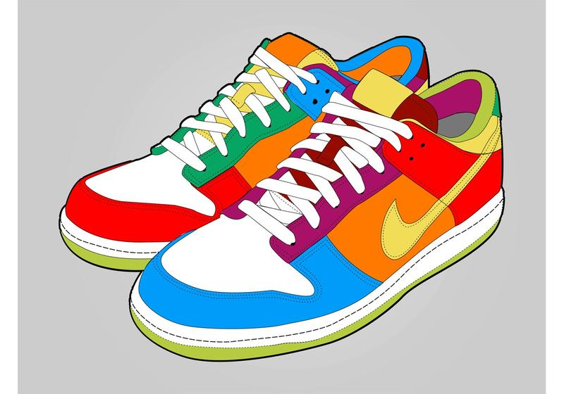 Vektor Grafiken Shoes Kostenlose Colorful KunstArchiv vmNwn80