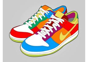 Colorful Shoes vector
