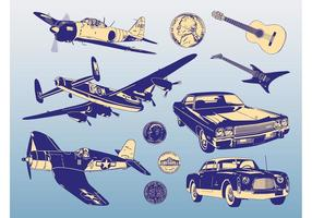 Retro Designs vector