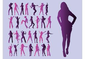 Girls-silhouettes-vector