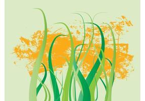 Grunge Grass Stems