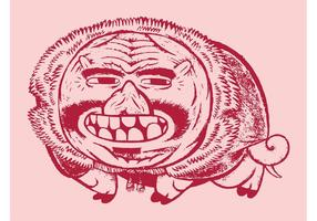 Varkenscaricatuur