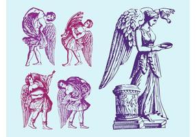 Statues des anges anciens