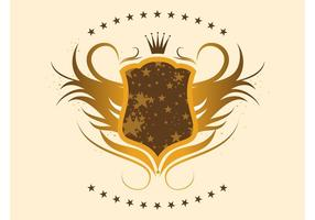 Gold-shield-with-stars