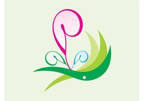 Gekrümmte Blumen Icon