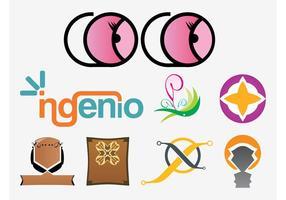 Iconos De Los Logotipos Vectores