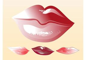 Vectores de los labios