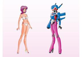 Girl anime robot