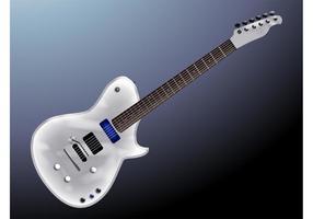 Guitare en argent