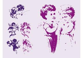 Antique Angels Vectors