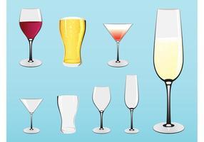 Glaswaren und Getränke