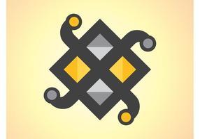 Vector de icono geométrico