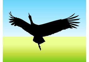 Flyga fågelvektor