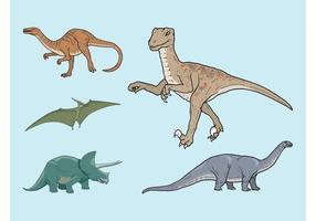 Dinosaurios Vectores