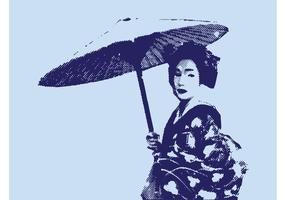Geisha Vector Graphics