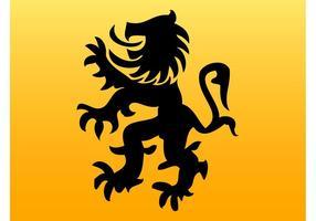 Vetor silhueta do leão
