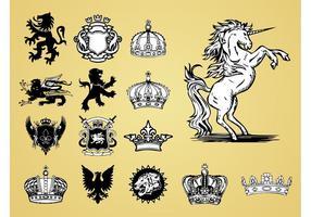 Antike Heraldik Vektoren
