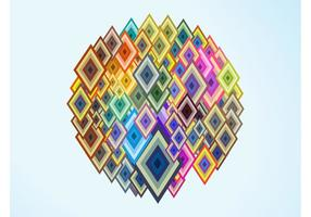Colorful Diamond Shapes