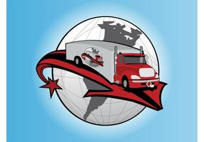 Logotipo del camión vector