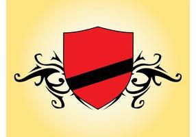 Vetor escudo vermelho