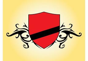 Vector Escudo Rojo