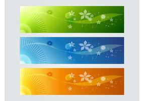 Bunte Banner-Grafiken