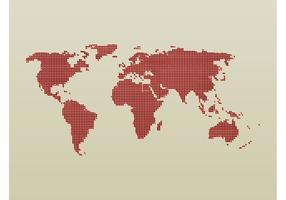 Carte mondiale pointillée