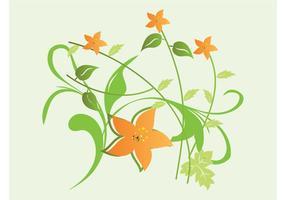Orange-flowers-vector