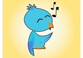 Niedlicher singender Vogel