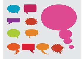 Globos de Habla Multicolores