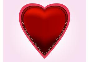 Romantisk röd hjärta