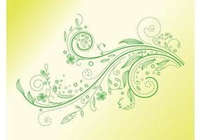 Grüner Pflanzenwirbel