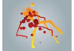 Splattered verf vector