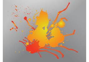 Druipende splatter