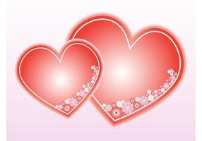 Floral Hearts Vector