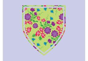 Floral-shield-vector