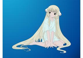 Manga Girl Vector