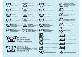 Símbolos de lavanderia