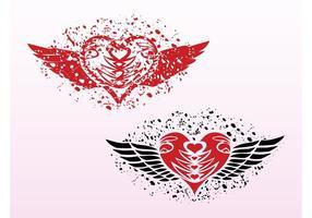 Grunge hart ontwerpen