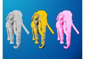 Éléphants colorés