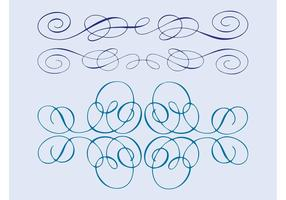 Swirling Line Ornaments