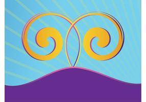 Paysage avec des spirales
