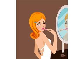 Pretty Girl With Lipstick