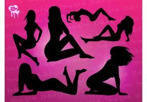 Siluetas de chicas desnudas