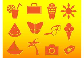 Sommer Reise Icons
