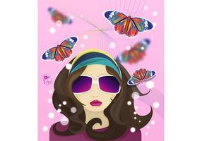 Hippie Mädchen