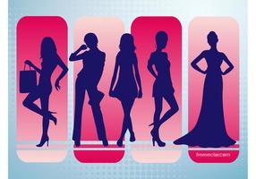 Siluetas de vectores de moda