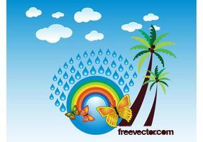 Tropische Grafiken