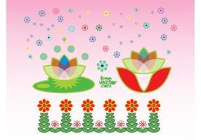 Exotische Blumen Grafiken